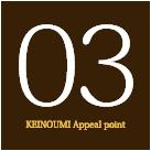 03KEINOUMI Appeal point