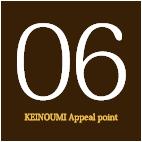 06KEINOUMI Appeal point