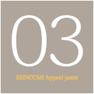 03KEINOUMI Appeal point